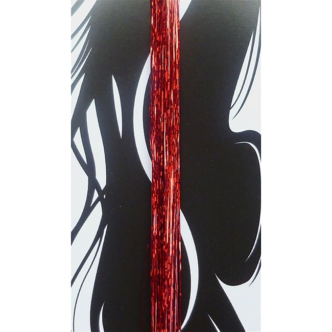 Bling Strands 'Sizzling Red' Hair Tinsel Fibers
