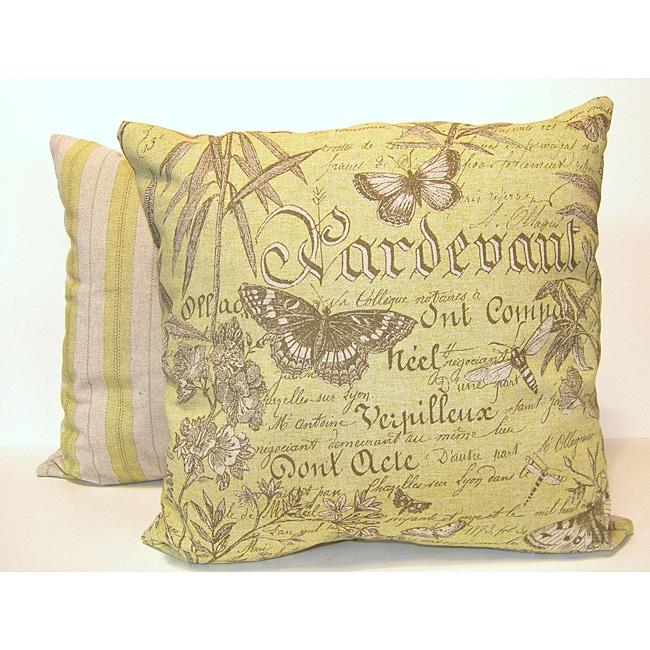 Butterfly Botanical Throw Pillows (Set of 2)