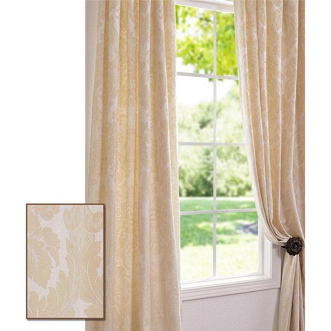 Exclusive Fabrics Mayfair Cream Color 95 Inch Cotton