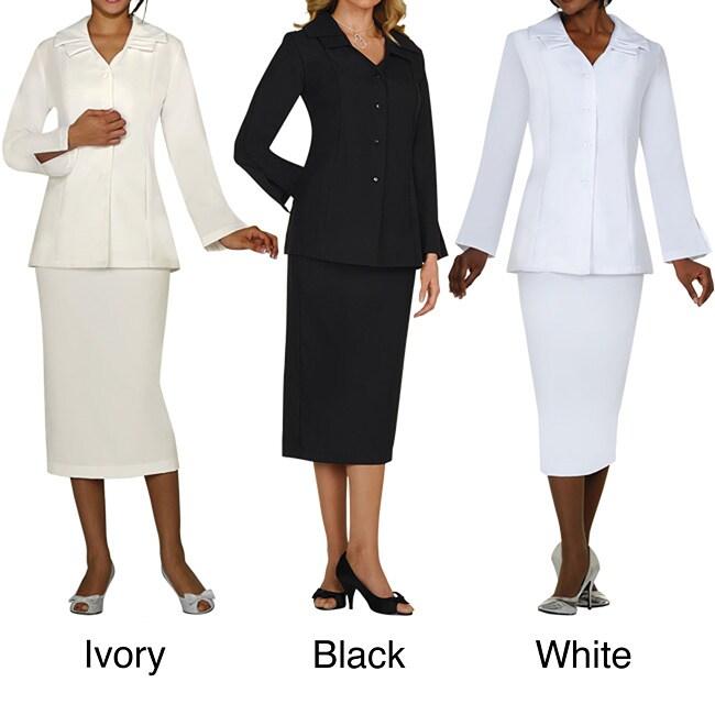 Divine Apparel Plus Size Classic Skirt Suit