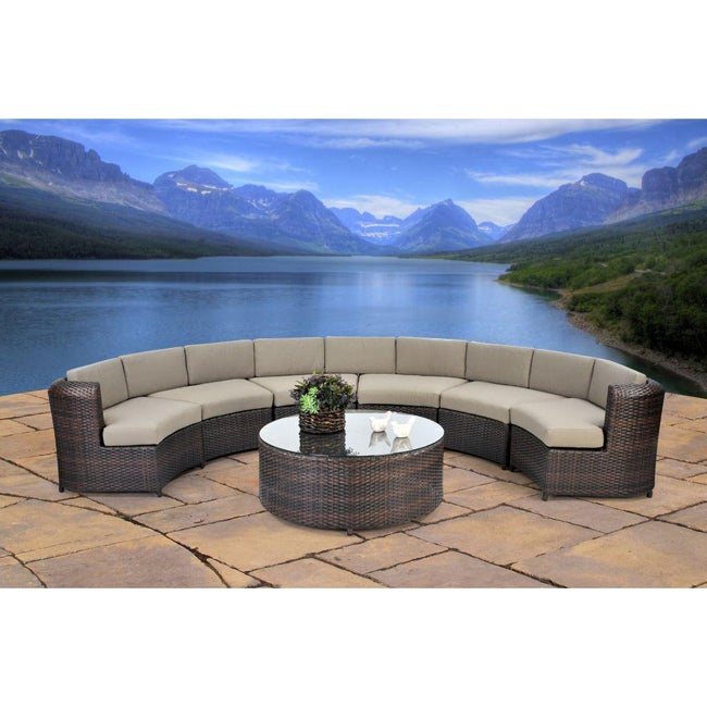 Beverly 7 Piece Semicircle Sectional Sofa Set