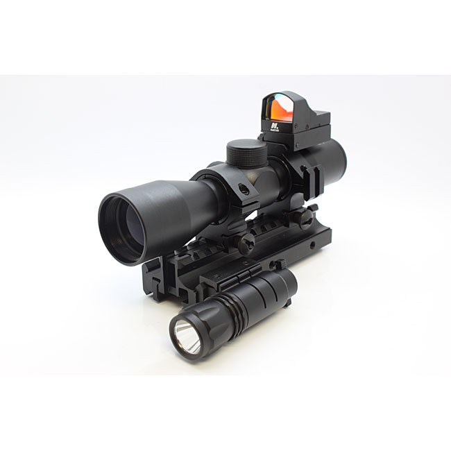 NCStar Tactical Triple Threat Combo Rifle Scope (MTRIF, SC430B, RMB11, DDAB, APTF) - Thumbnail 0
