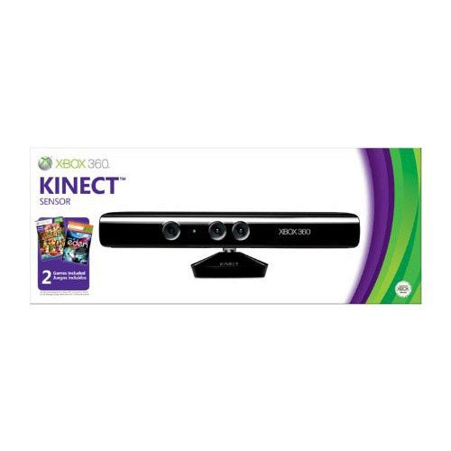 Xbox 360 - Kinect Sensor with Kinect Adventures and Child of Eden Token Code
