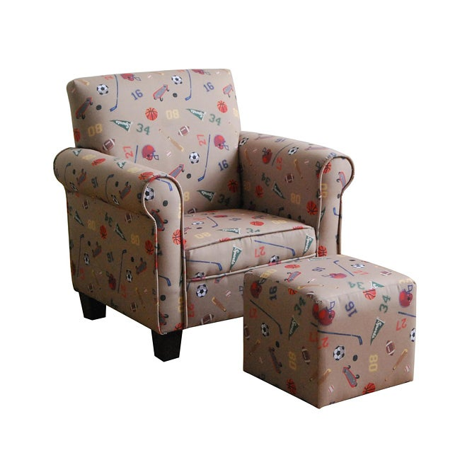 Sports 2-piece Club Chair and Ottoman Set