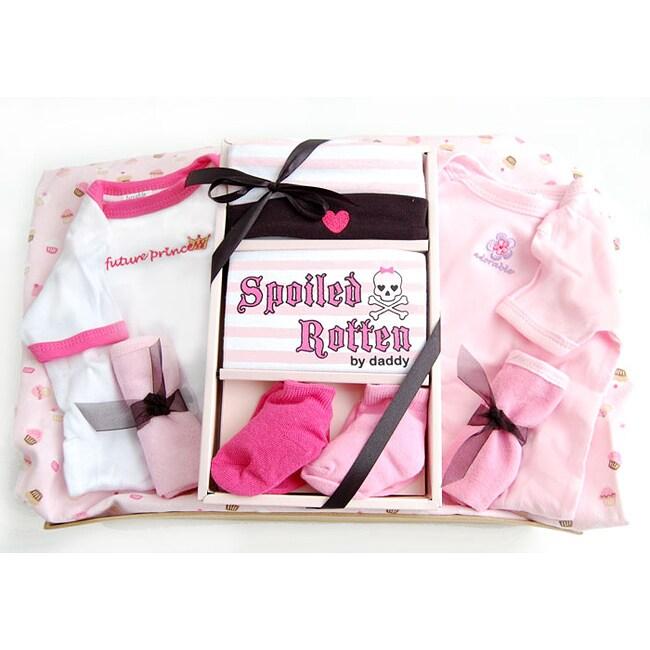 Nikki's Gift Baskets Spoiled Rotten Baby Girl Basket