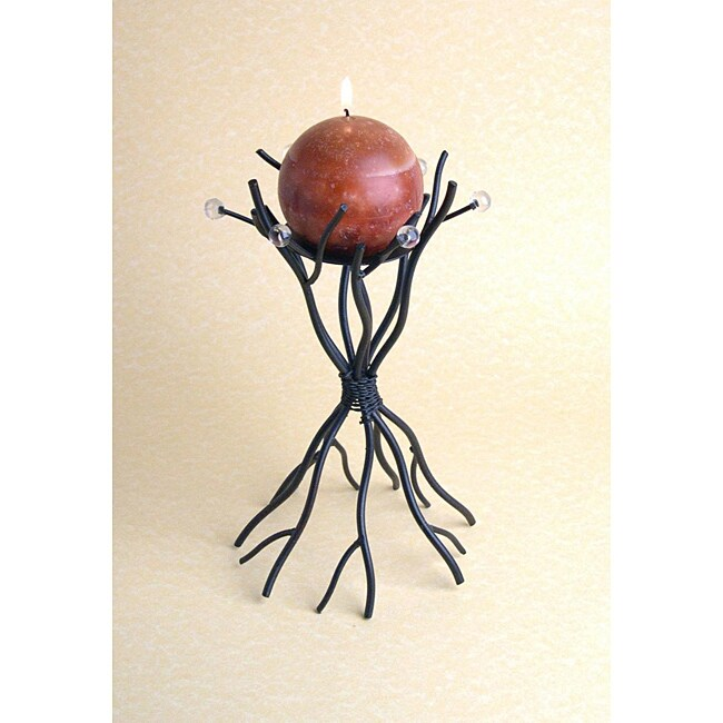 Dayna B. Metal Twigs and Beads Candleholder