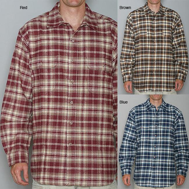 Field and stream men 39 s long sleeve flannel shirt free for Field and stream fishing shirts