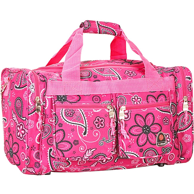 Rockland Deluxe Pink Bandana 19-inch Carry-on Tote/ Duffel Bag