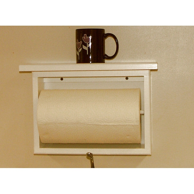 On-the-wall Paper Towel Holder with Shelf
