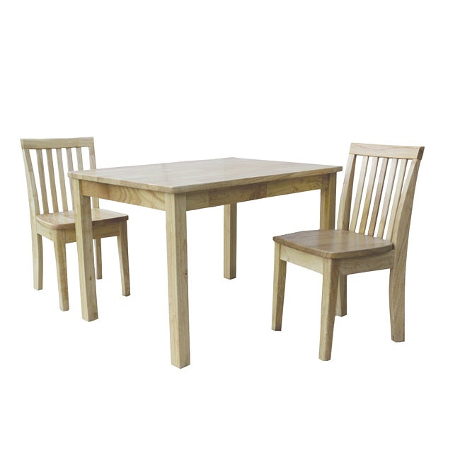 Natural 3-piece Juvenile Mission Table and Chairs
