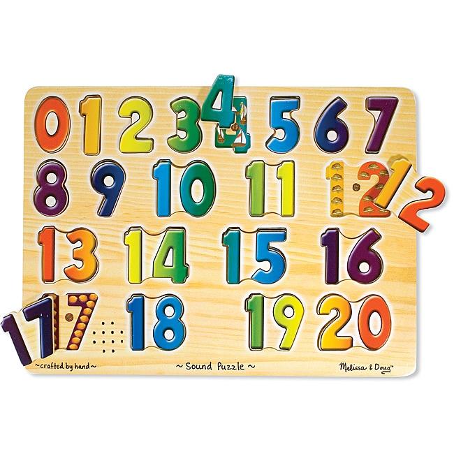 Melissa & Doug Numbers Sound Puzzle Set