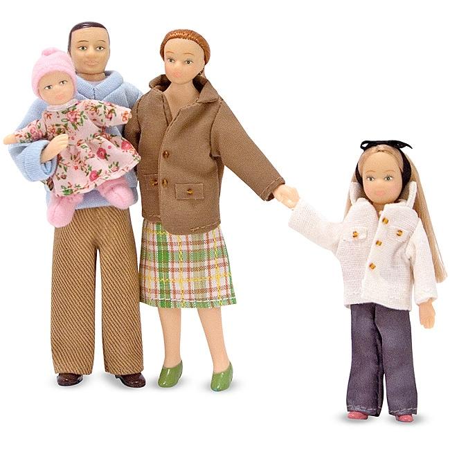 Melissa & Doug Victorian Caucasian Doll Family Set