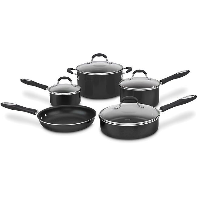 Cuisinart 55-9BK Black Advantage Nonstick 9-piece Cookware Set - Thumbnail 0