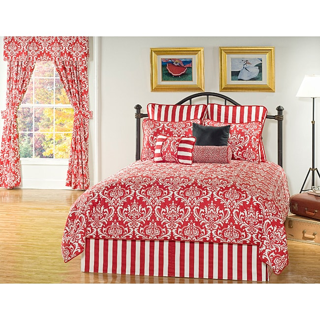 Red Elysee Full-size 9-piece Comforter Set