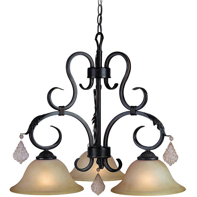 Woodbridge Lighting Firenza 3-light Colonial Bronze Chandelier