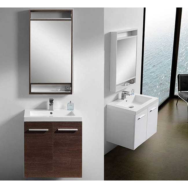 24 Inch Bathroom Vanity With Legs wallmount or legs 24-inch bathroom vanity - free shipping today