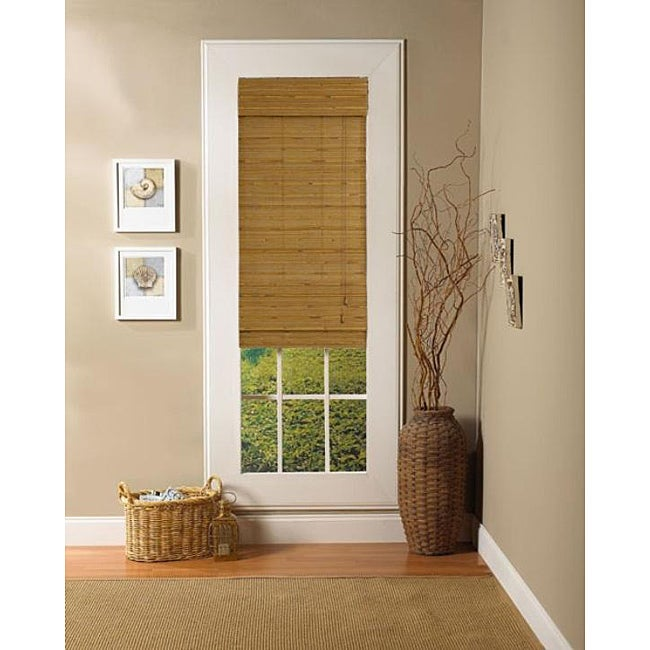 Taos Natural Roman Shade (31 in. x 72 in.) - Thumbnail 0
