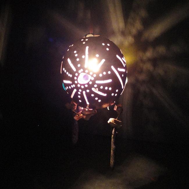 Jellyfish Sunset Hanging Lamp (Mexico)
