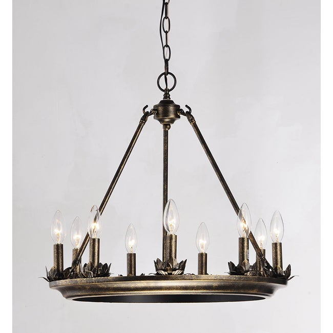 Thebes 9 Light Candelabra Iron Chandelier Free Shipping