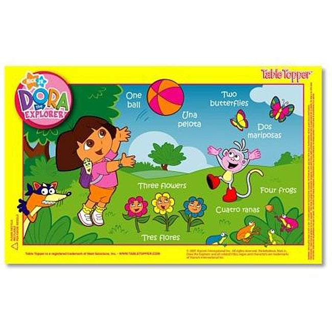 Dora the Explorer Table Toppers with Travel Case (Pack of 50)
