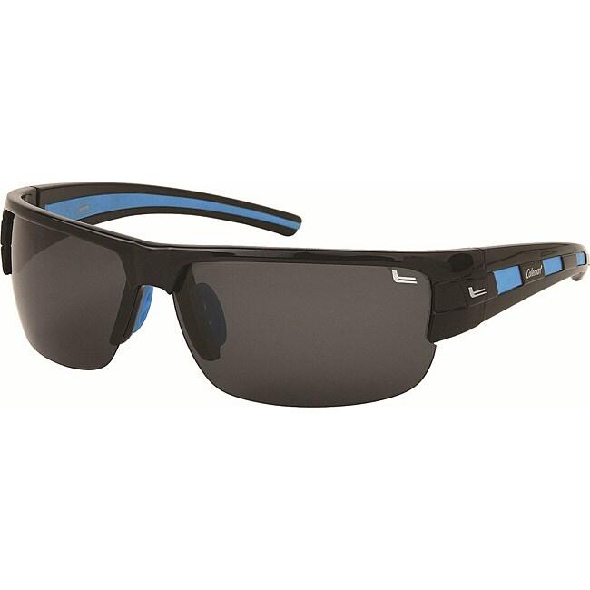 Coleman Men's CC1 Black/ Blue Polarized Sunglasses