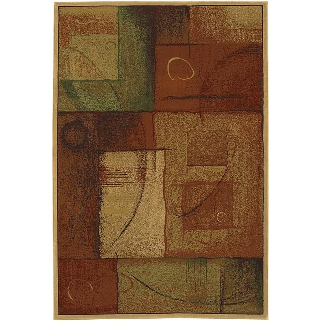 Abstraction Polypropolene/ Olefin Rug (5'3 x 7'10)