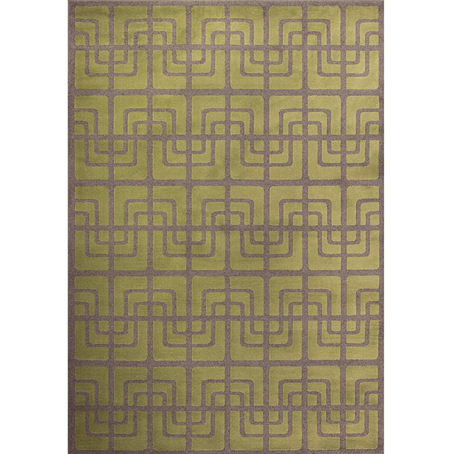 Miramar Green and Grey Area Rug (7'10 x 10')