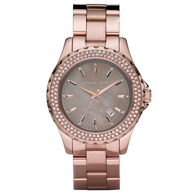 Michael Kors Women's Glitz Rose Goldtone Watch