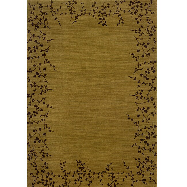 Ellington Gold/Brown Transitional Area Rug (5'3 x 7'6) - Thumbnail 0
