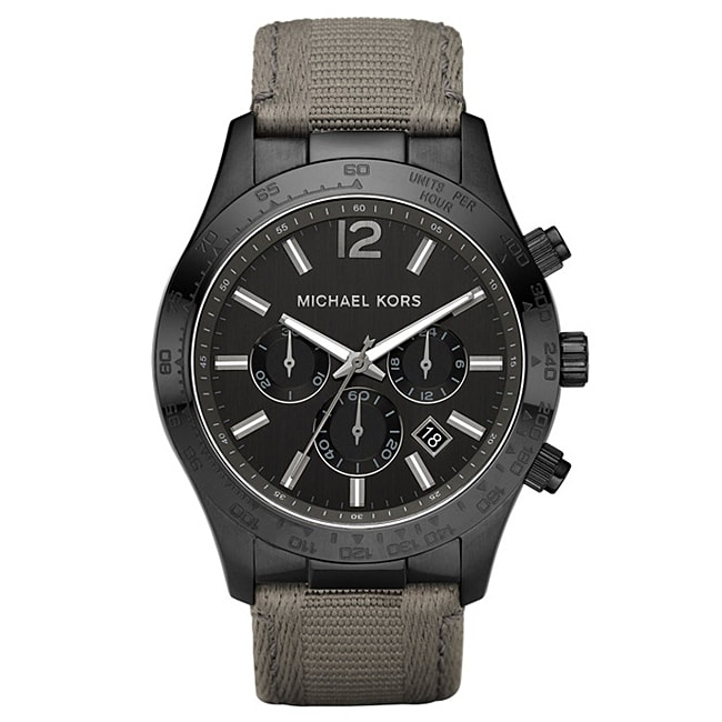 Michael Kors Men's Canvas Strap Chonograph Watch