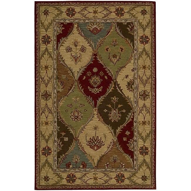 Nourison Hand-tufted Caspian Multicolor Wool Rug (8' x 10'6)