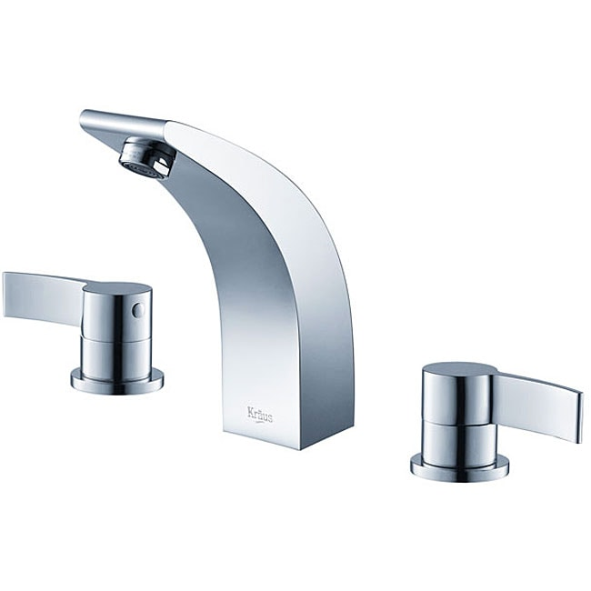Kraus Illusio Double Handle Widespread Vessel Chrome Faucet - Free ...