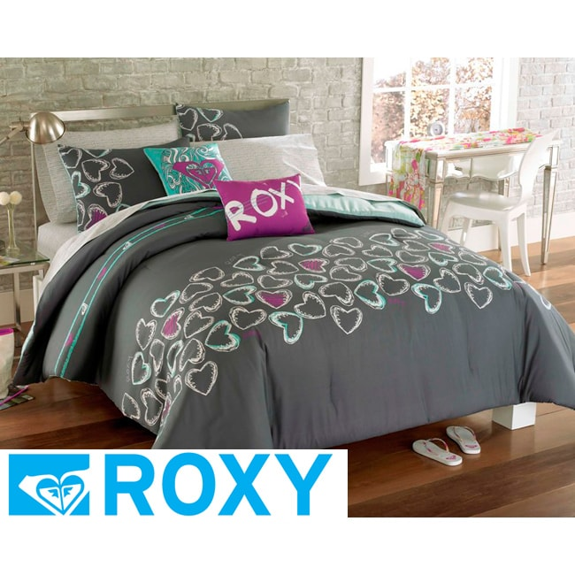 roxy heart and soul full size 9 piece bed in a bag with sheet set free shipping today. Black Bedroom Furniture Sets. Home Design Ideas