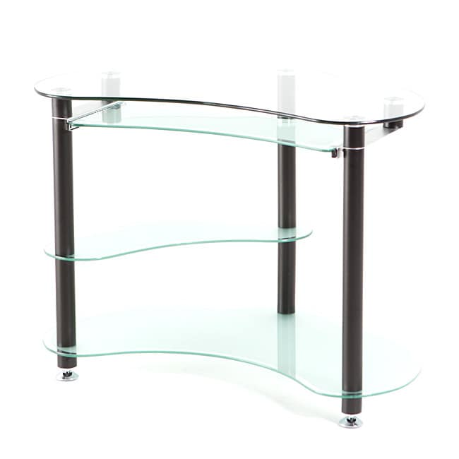 Matrix Krysta Frosted Glass Corner Computer Desk Free