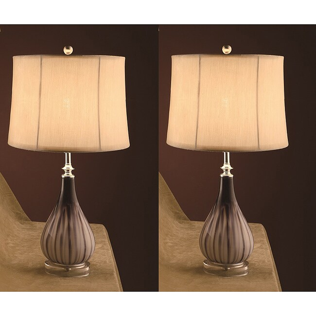 Pearz 26-inch Table Lamps (Set of 2)