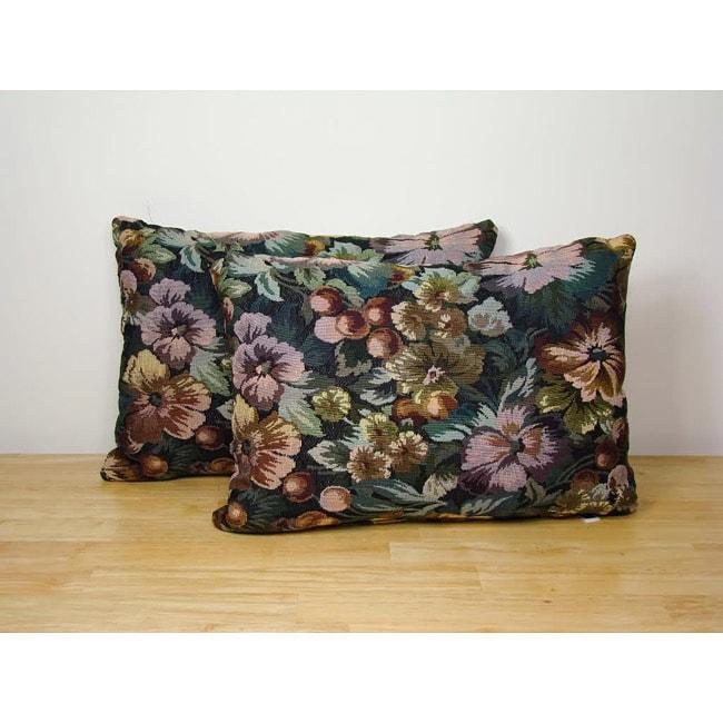 Jewel Botanical Throw Pillows (Set of 2)
