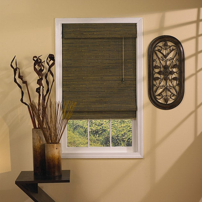 Rangoon Green Tea Roman Shade (48 in. x 64 in.)