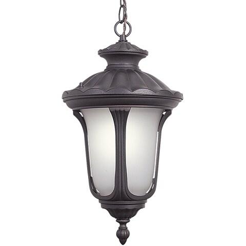 Woodbridge Lighting 61025WL-RTP Westbrook 1-light Outdoor Chain Hung Pendant, Powdered Coat Rust