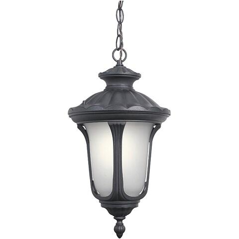 Woodbridge Lighting 61025WL-BKP Westbrook 1-light Outdoor Chain Hung Pendant, Powdered Coat Black