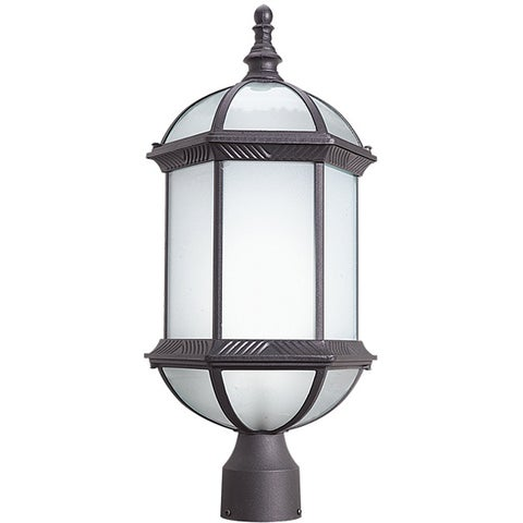 Woodbridge Lighting 61036WL-RTP Glenwood 1-light Outdoor Post Mount Light, Powder Coat Rust