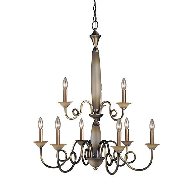 Woodbridge Lighting Mayfield 9-light Classic Brass Chandelier