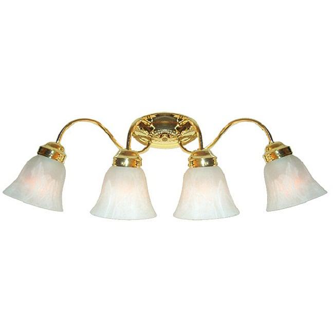 Woodbridge Lighting Ridgemont 4-light Polished Brass Bath Sconce