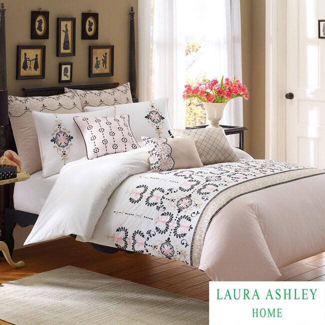 Laura Ashley Yardley Full/ Queen-size 3-piece Duvet Cover Set