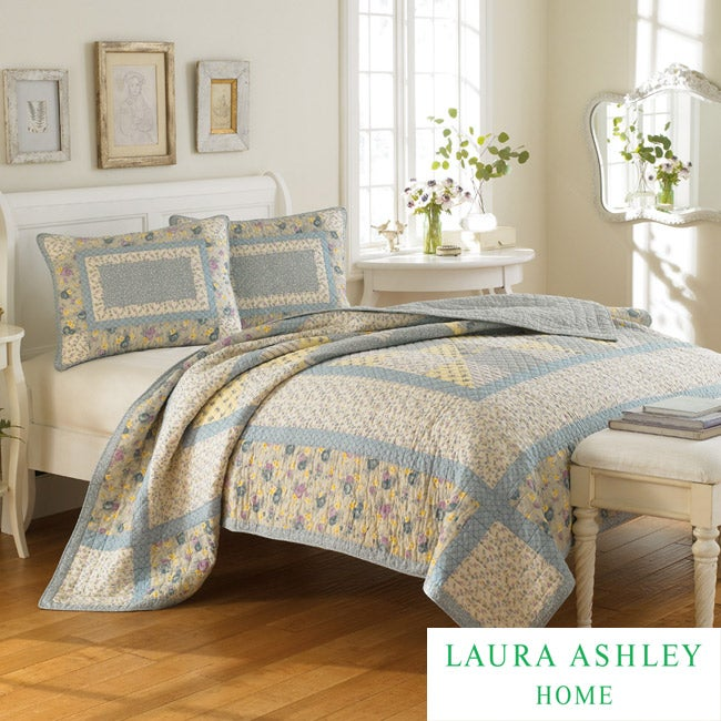 Laura Ashley Hadleigh Full Queen Size Quilt Free Shipping Today 13904297