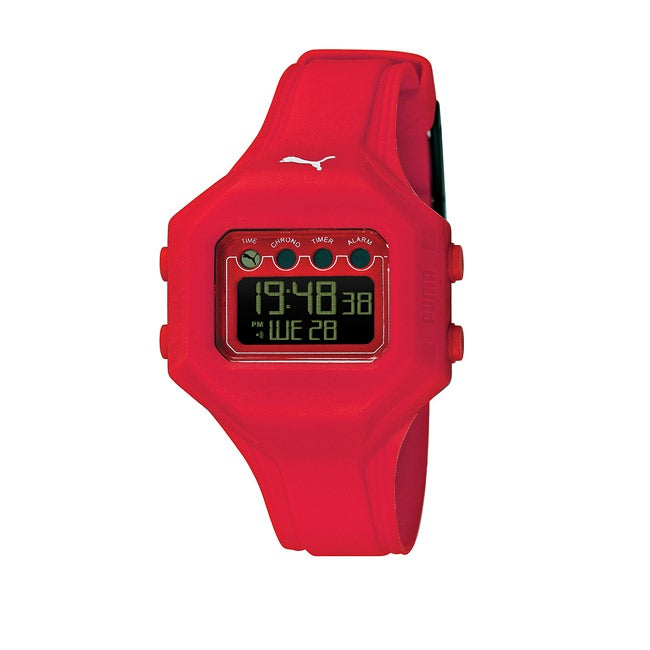 Puma Women's 'Bounce' Red Digital Watch