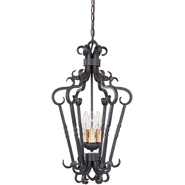 World Imports Bristol Collection 3-Light Foyer Pendant - Thumbnail 0