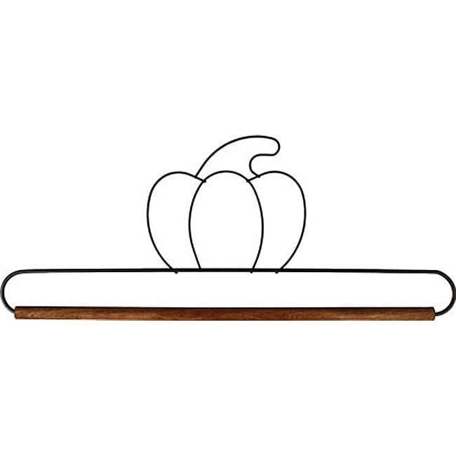 Pumpkin Fabric Holder with 12-inch Dowel