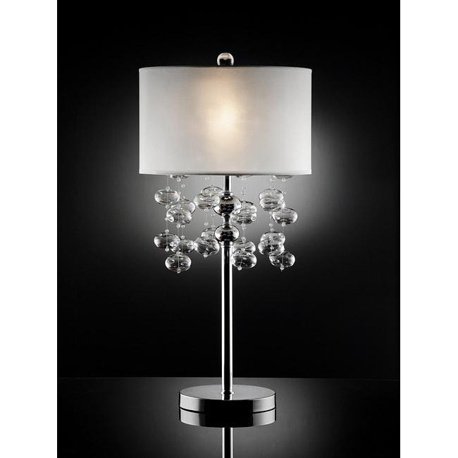 Rivera 34 Inch Glass Bubble Table Lamp