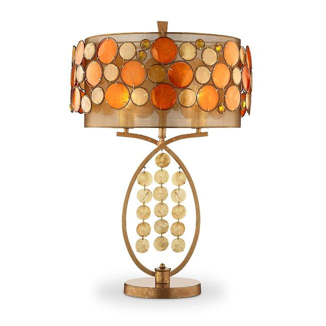 Isabela Orange Capiz Shell Table Lamp