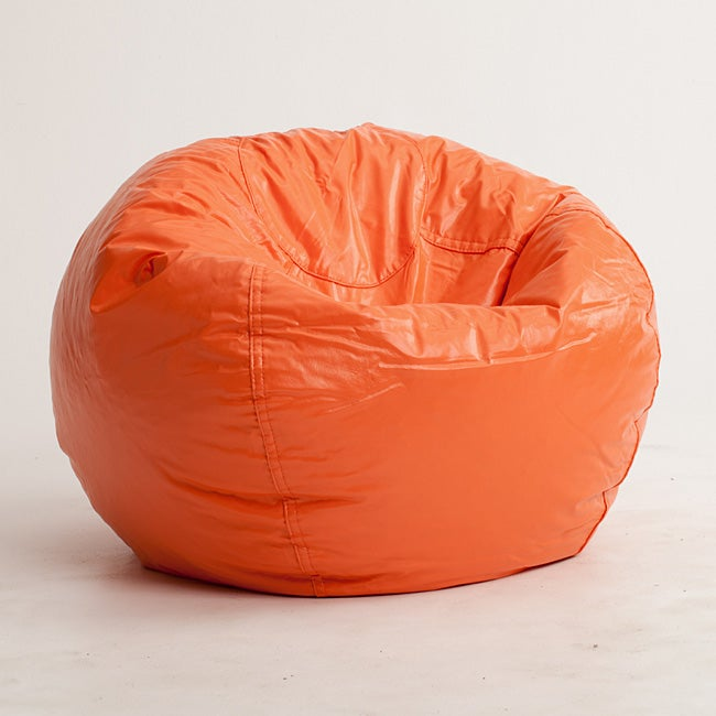 shop beansack orange vinyl bean bag chair free shipping on orders over 45 overstock 6271374. Black Bedroom Furniture Sets. Home Design Ideas